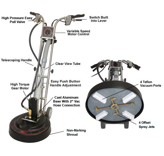 Rotovac 360i15 Professional Tile Grout Cleaning Machines From