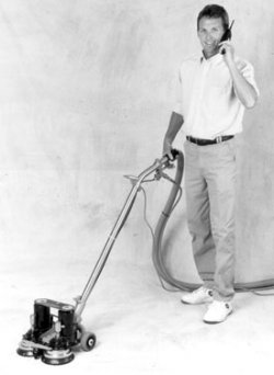 Rotovac with inventor Cliff Monson
