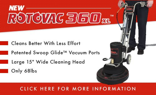 Rotovac 360XL Carpet and Tile cleaning machine